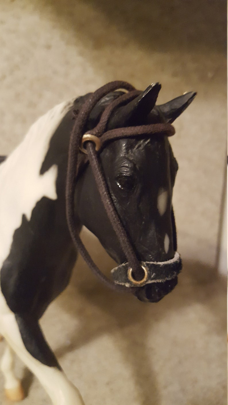 Leather Clad Model Horse With Glass Eyes