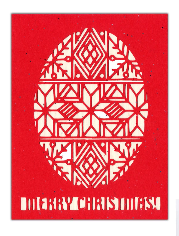 Ukrainian Christmas Card Silhouette Paper Cut Pysanka Etsy