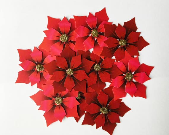 Poinsettia paper flowers diy by christines catch my party il570xn mightylinksfo