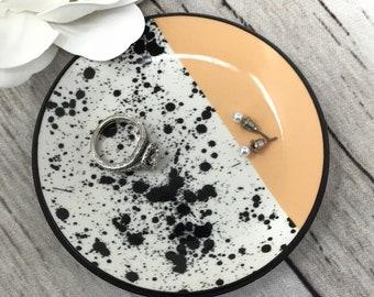Soft Girl Jewelry Dish Soft Girl Aesthetic Custom Mini Crystal Ring Dish Resin Trinket Tray Aesthetic Room Decor Pastel Goth Decor
