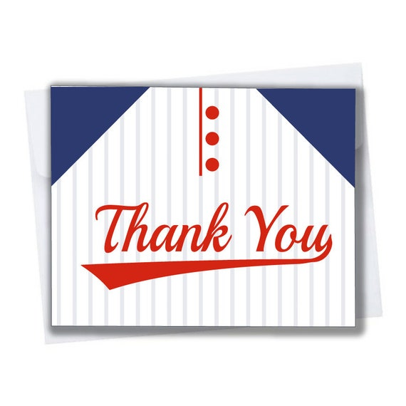 Baseball Thank You Cards For Baby Shower Or Baseball Themed Birthday Party 10 Pack Blank Inside With Envelopes Jersey Red Black Orange Blue