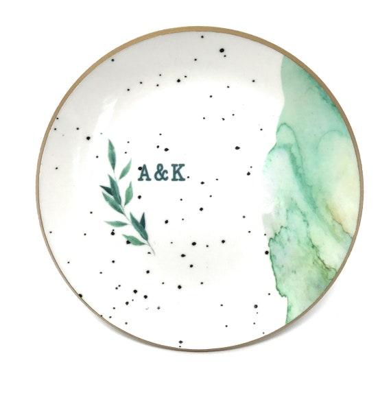 Ceramic Ring Dish l Jewelry Holder l Jewelry Dish l Speckled Dish l