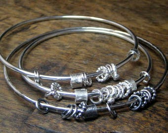 Sterling Silver Stacking Chime Bangle