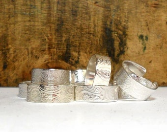 Sterling Silver Textured Toe Ring