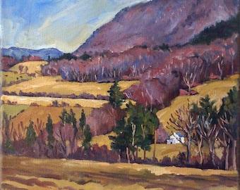 3 Oil Painting Landscapes -Berkshires Triptych- 3 12x12 Oils on Canvas, Plein Air American Impressionism, Signed Original Realist Fine Art