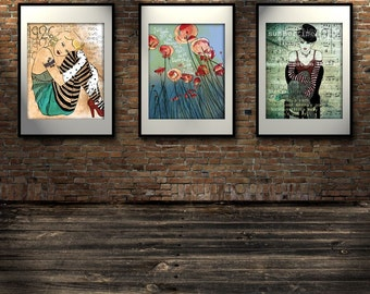 11x14 size UPGRADE your print  Large Print Poster Size 11 x 14 Signed Art Print Professionally Printed Acid Free Paper