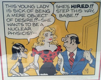 """Al Capp Serigraph """"She's Hired"""".  1975 Signed and Numbered."""
