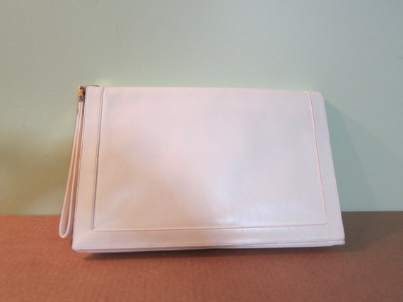1970's Italian leather White GoGo Bag
