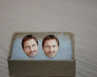 Gerard Butler Post Stud Earrings Celebrity Jewelry