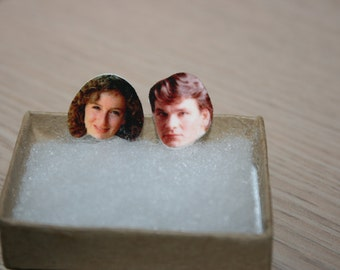 Patrick Swayze Jennifer Grey Dirty Dancing Post Stud Earrings Celebrity Inspired Jewelry