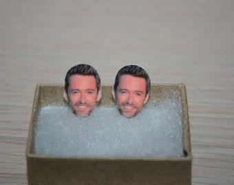 Hugh Jackman Post Stud Earrings Celebrity Jewelry