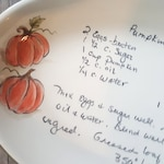 Recipe Plate, Grandmas recipe platter, Family recipe, Christmas gift, family gift, Personalized plate, Hand Painted Fruit