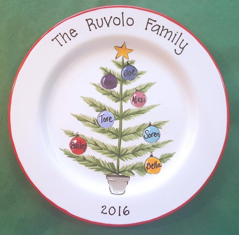 Custom Christmas Platter  Personalized Platter  Gift for image 0