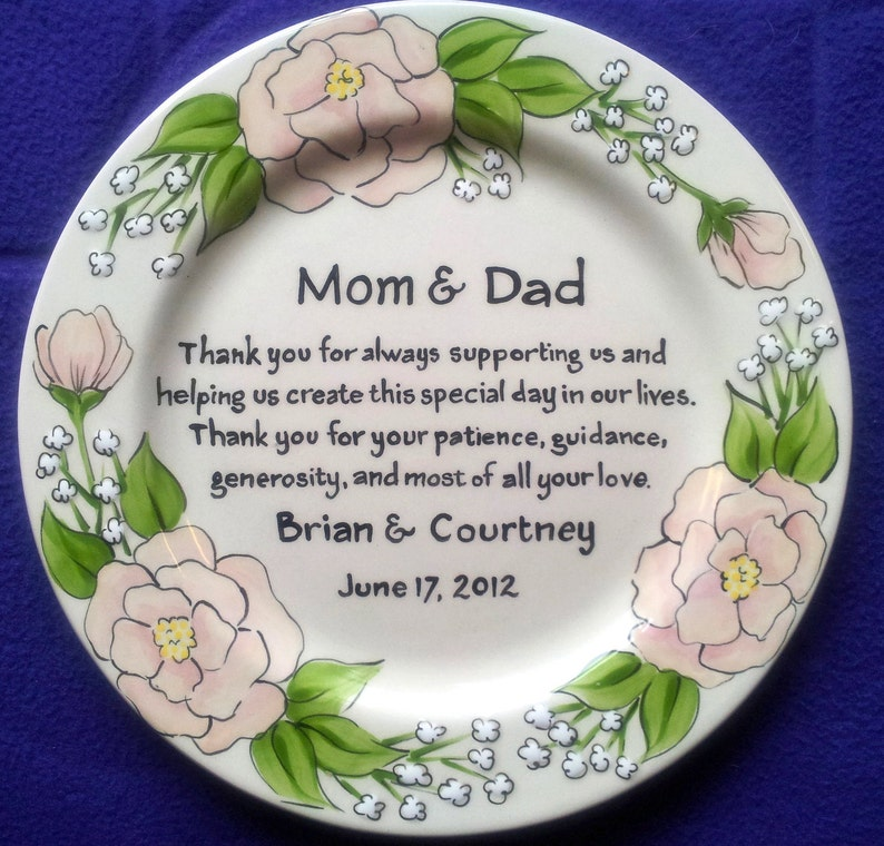 Thank You Gift For Parents On Wedding Day Mom Dad From Etsy
