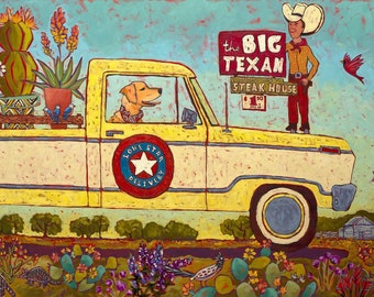 The Big Texan Art Print