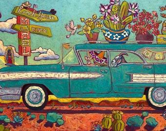 Fiesta On The Border Art Print