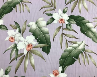 Beautiful Hawaiian Print in Rayon   (Yardage Available)