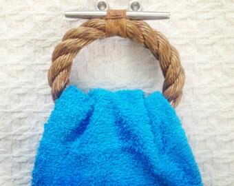 Nautical Rope Towel Ring Manila And Hemp Etsy