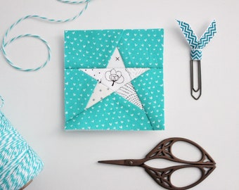 Tiny Star (3 sizes!) Foundation Paper Pieced Quilt Block pattern (PDF Download)