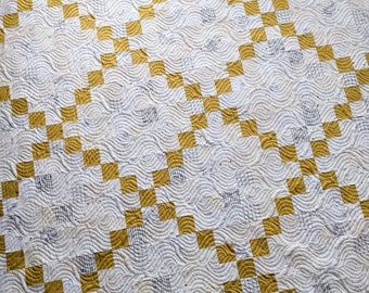Scrappy Irish Chain Quilt    Handmade Heirloom Quality Quilt with Professional Machine Quilting