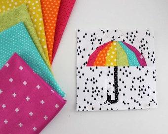 Hello Rain! Foundation Paper Pieced PDF Quilt Block Pattern
