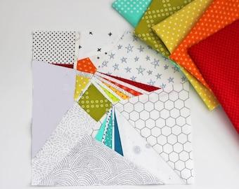 Hummingbird Paper Pieced PDF Quilt Block Pattern