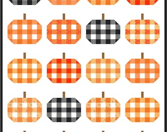 Plaid Pumpkins PDF Quilt Pattern || Modern Quilt Pattern || Fall Quilt Pattern || Easy Quilt Pattern