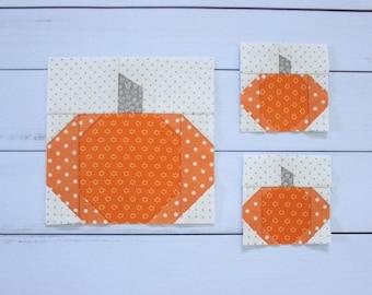 Tiny Pumpkin Foundation Paper Piecing Quilt Block Pattern