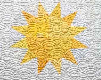 Jumbo Sunshine PDF Baby and Throw Quilt Pattern    Modern Baby Blanket