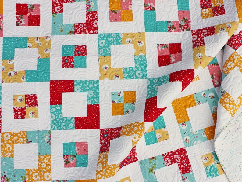 Market Square Quilt Pattern  Easy Jelly Roll Quilt Pattern image 1