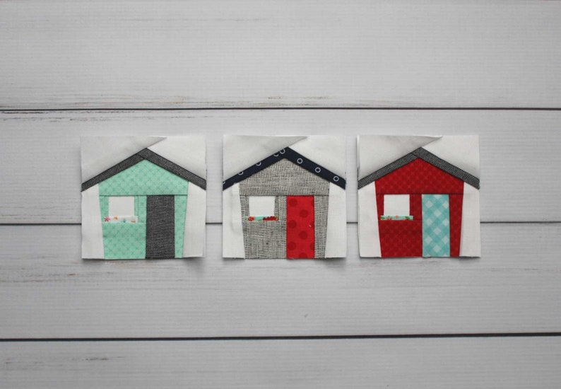 Tiny House Foundation Paper Piecing FPP Pattern  Easy and image 0