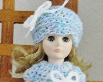 "11"" Vinyl Blonde with Blue Sleep Eyes EFFANBEE ~ In Crocheted Outfit"