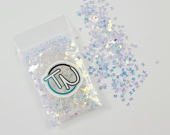 Fly High White Butterfly Confetti Mix