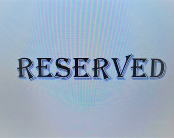 RESERVED for Marianne