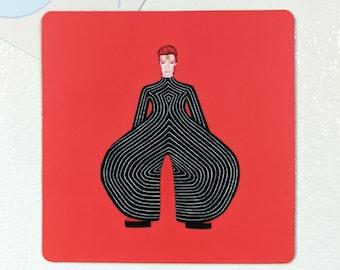 David Bowie 3 x 3 inch Magnet By SBMathieu