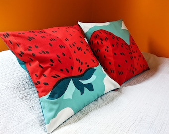 Marimekko Mansikkavuoret 20 x 20 Envelope Pillow Cover by SBMathieu
