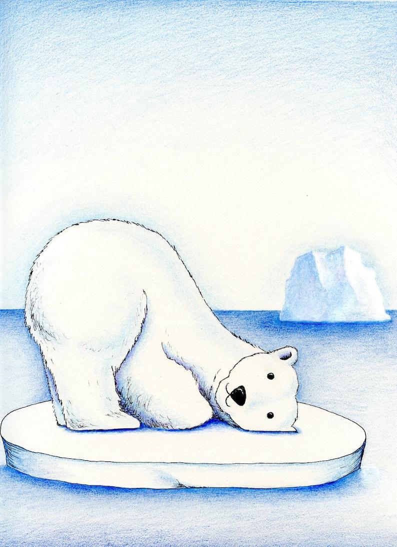 Рисунки белого медведя смешные, днем