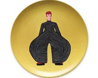 David Bowie Tokyo Pop Bodysuit Tribute 10 Inch BPA-Free Melamine Plates by SBMathieu
