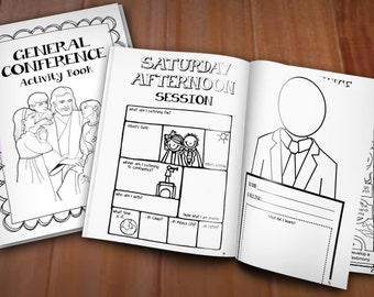 CONFERENCE ACTIVITY BOOK for lds General Conference- Instant Printable Download