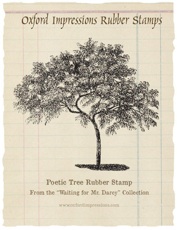 UNMOUNTED /'TREE OF LOVE/' RUBBER STAMPS