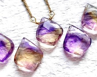 MX-4980 Natural Ametrine Cabochon Rarest Ametrine Gemstone Handmade Yellow Purple Ametrine Healing Crystal 33x24mm Fancy Shape Jewelry Use