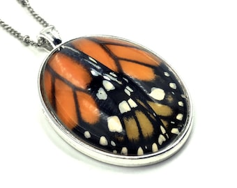Real monarch butterfly jewelry Best friend gift Best selling items Glass terrarium necklace Taxidermy jewelry Oddities Monarch necklace