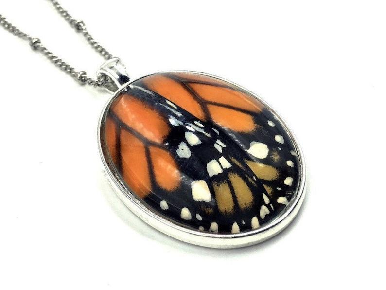 Real monarch butterfly jewelry Best friend gift Best selling image 0