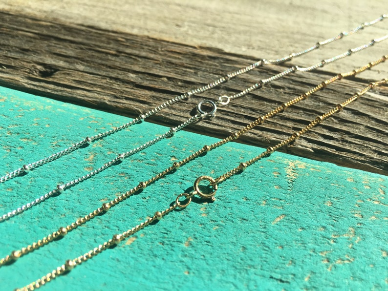 17 Inch 14k Gold Filled Long and Short Chain Necklace