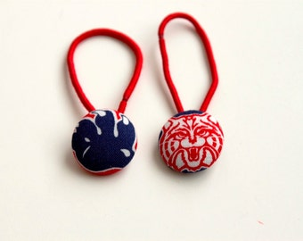 U of Arizona Fabric Covered Button Ponytail Holders