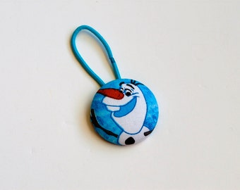 Olaf Fabric Covered Giant Button Ponytail Holder