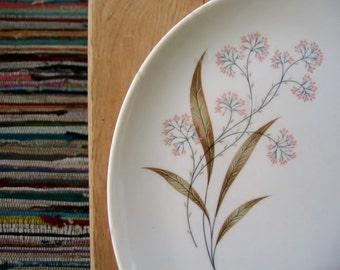 Syracuse China Boho Retro Design Mid-Century Modern White Platter