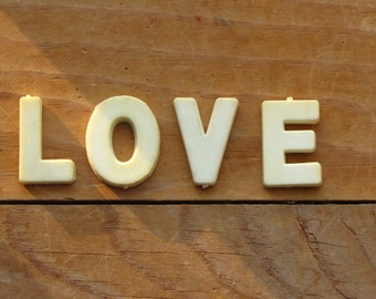 Vintage LOVE Plastic Letters : FREE SHIPPING