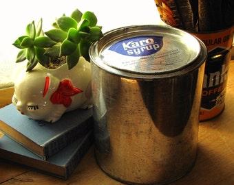 Karo Syrup Vintage Tin Metal Can
