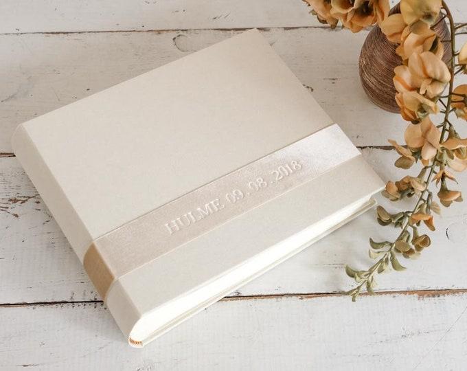 Custom Wedding Photo Guest Book, a Personalized Photo Album - Velvet Sash design by ClaireMagnolia